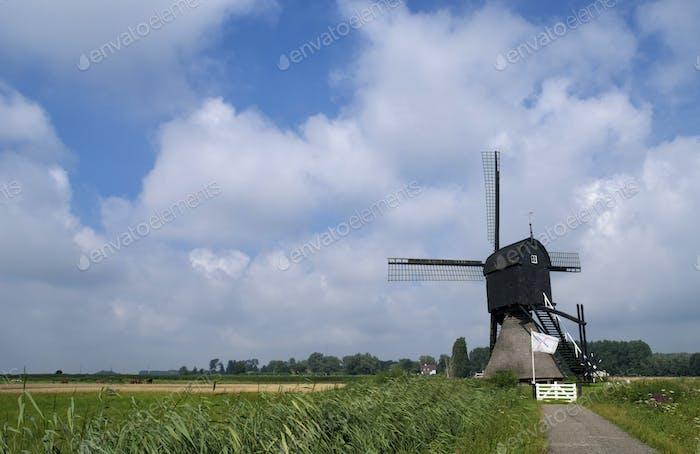 Zandwijkse mill near Uppel in the Dutch region 'land van Heusden en Altena'