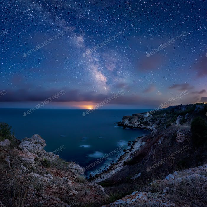Milky Way above the sea