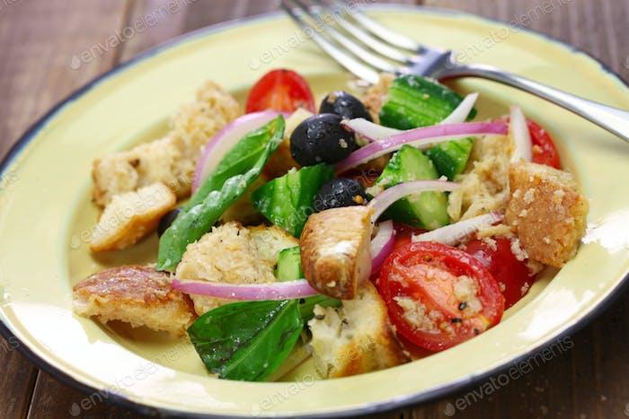 panzanella, Tuscan bread and tomato salad
