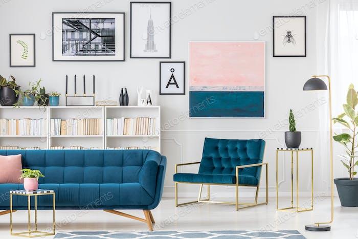 Künstlerisches Wohnzimmer