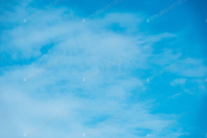 beautiful light blue sky with clouds