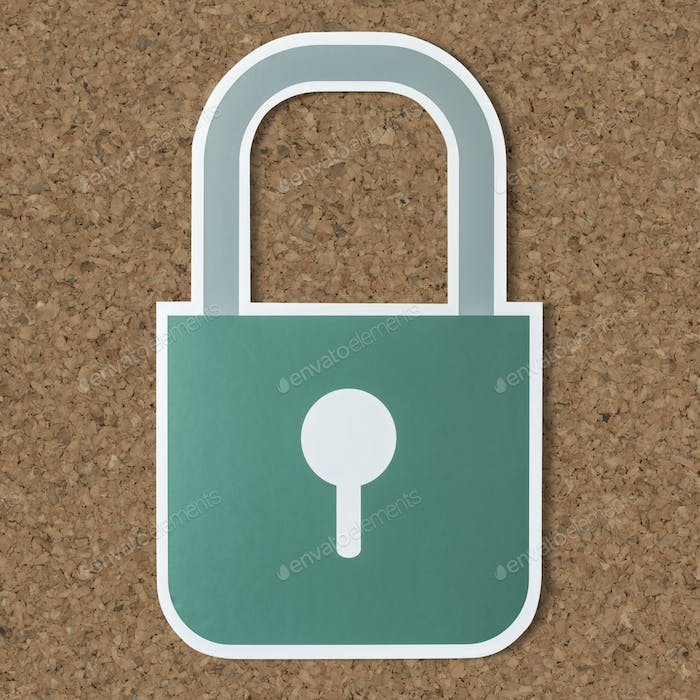 Privacy safety lock icon symbol