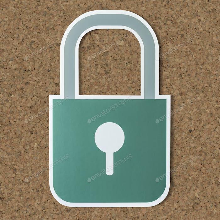Symbol für Sicherheitsschloss