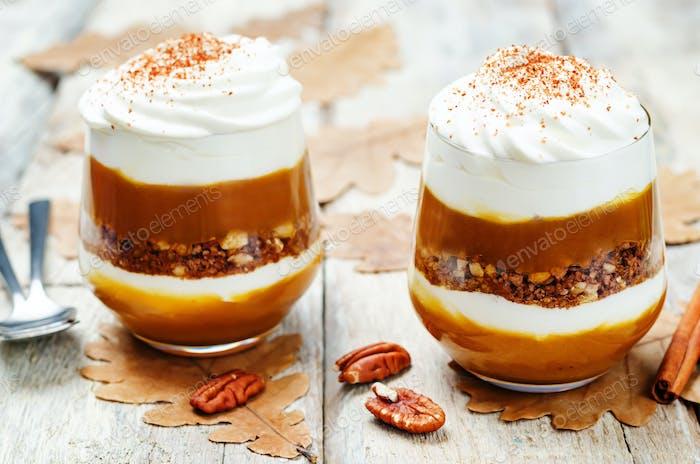 pumpkin butter Greek yogurt parfait