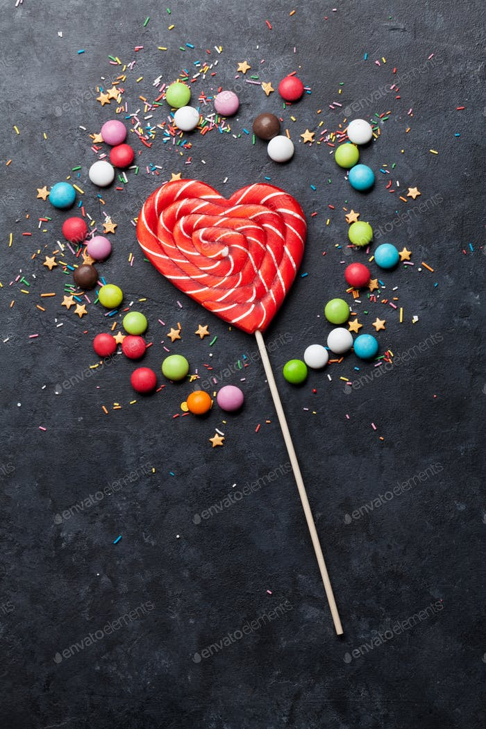 Bunte Süßigkeiten