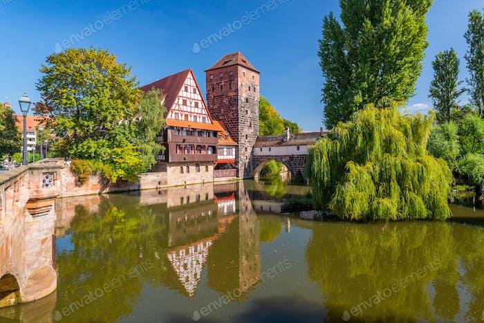Executioner's bridge in Nuremberg, Germany