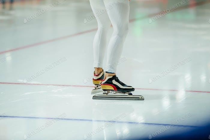 Mann Eisschnellläufer