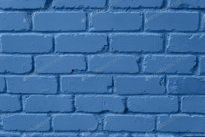 Mint brick wall texture. Background with copy space for design. Trendy blue and calm color