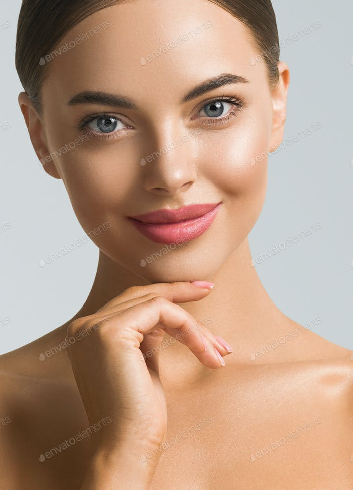 Woman Beauty Portrait. Natural classic make up