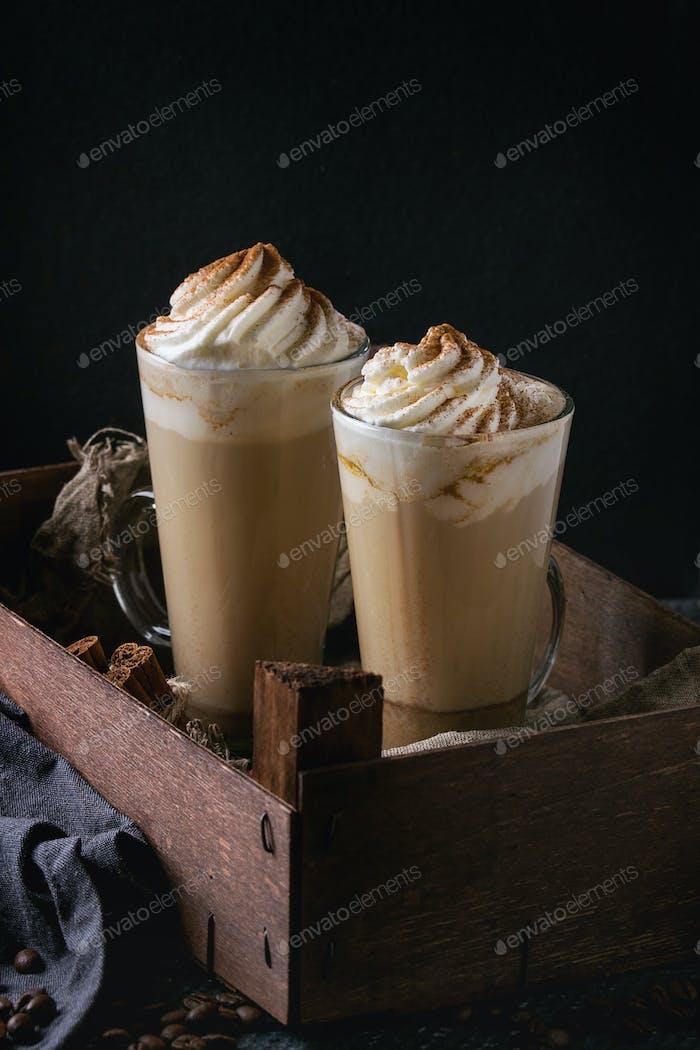 Pumpkin spicy latte