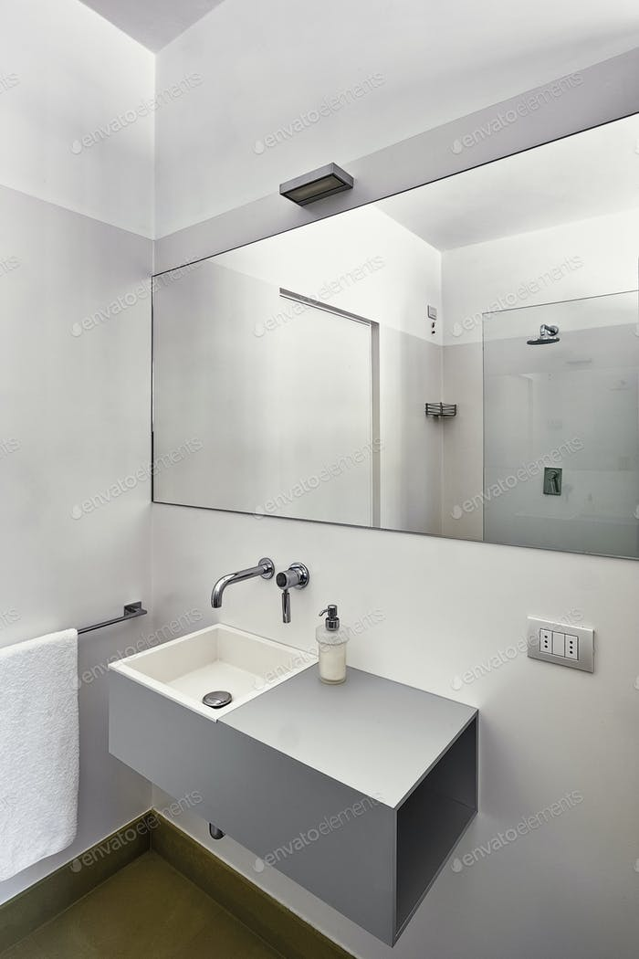 Interiors Shots of a Modern Bathroom