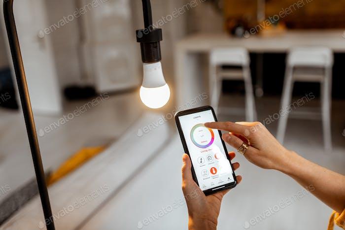 Control de la bombilla con dispositivo móvil