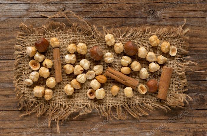 Hazelnuts and cinnamon
