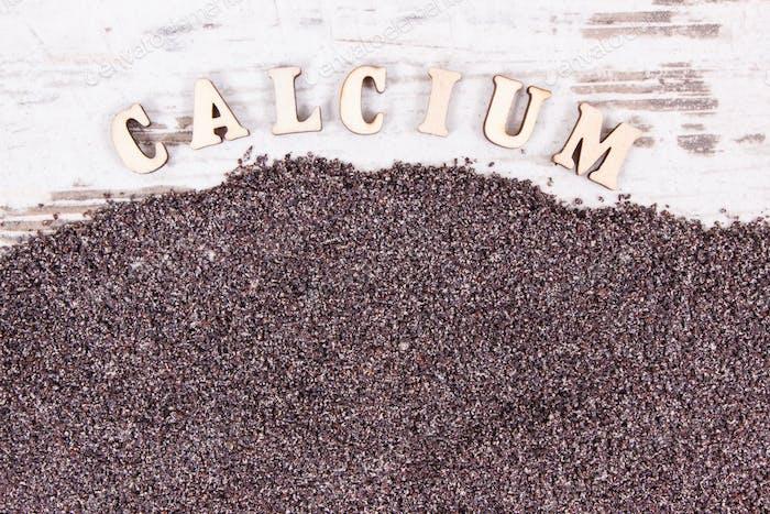 Poppy seeds as source calcium and fiber