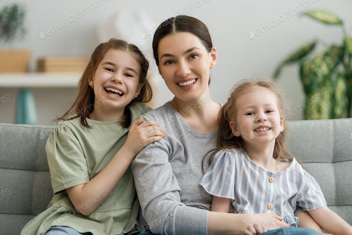 Happy loving family.
