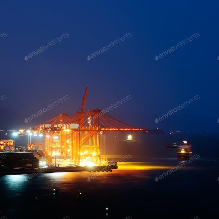 Thumbnail for Harbor at night