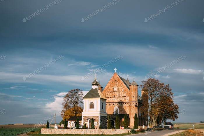 Synkavichy, Zelva District, Hrodna Province, Belarus. Old Church Of St. Michael The Archangel