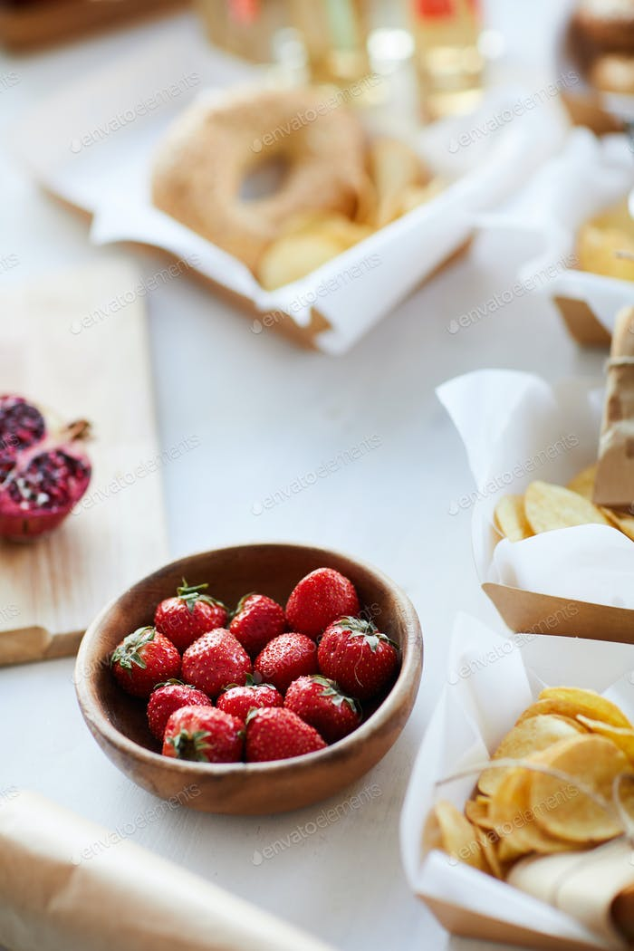 Delicious Strawberries on Table