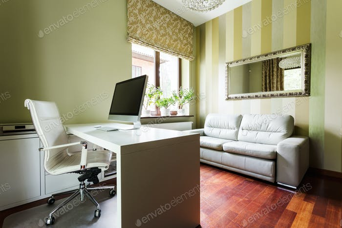 Calm office in pastel colors
