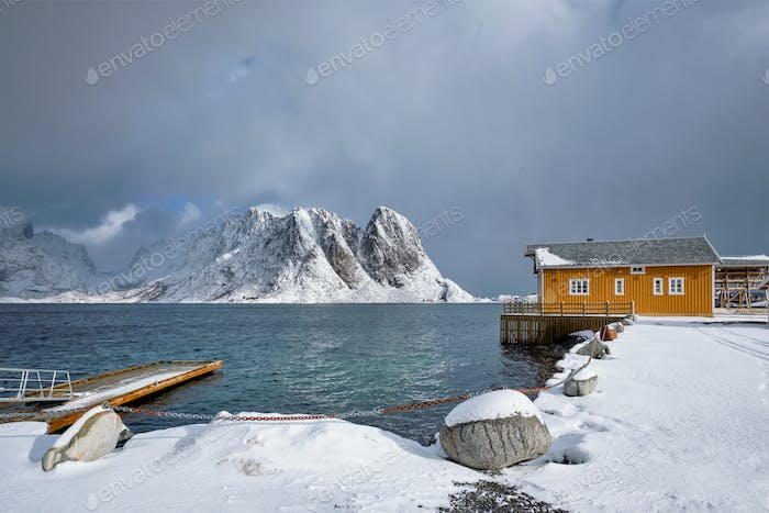 Sakrisoy fishing village on Lofoten Islands, Norway