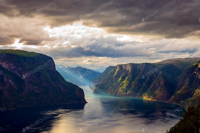 Beautiful Nature Norway Stegastein Lookout.