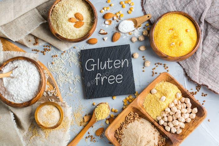 Gluten free almond, corn, rice, buckwheat and chickpea flour