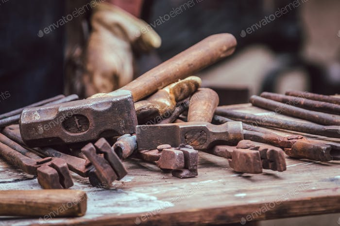 A blacksmith tools