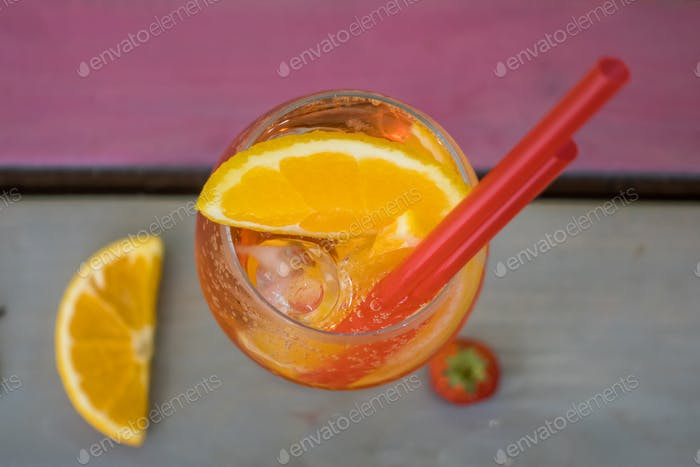 Orange Cocktail Top View