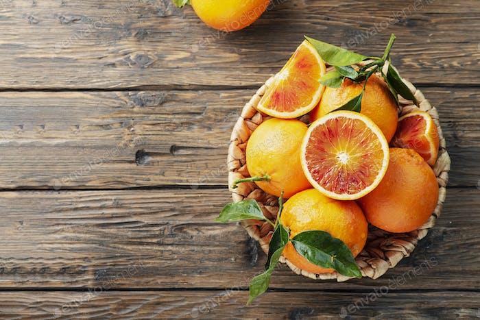 Süße rote Orangen von Sizilien
