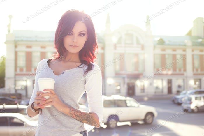 Take-out coffee.