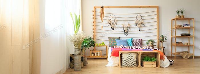 Ethnic spirituality in bedroom