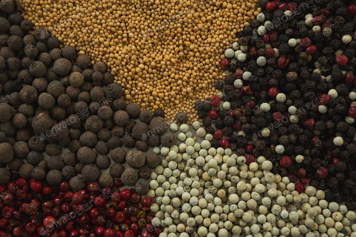 Various types of spices