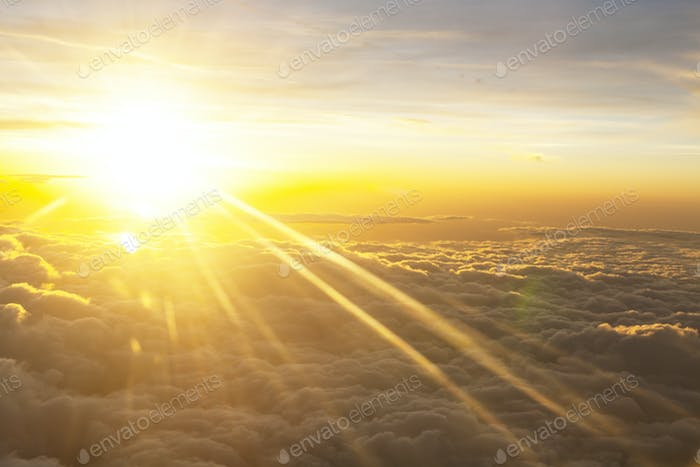 Morning Sun Over Clouds