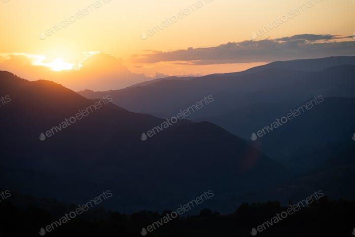Sunset in Transylvania.
