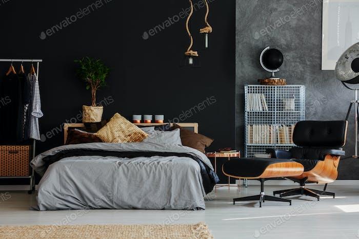 Eco style bedroom