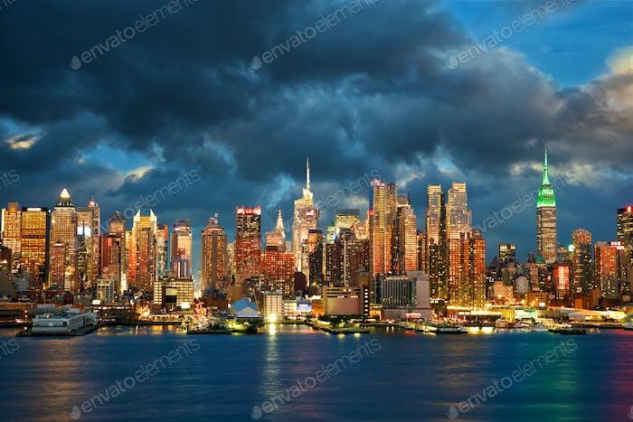 Skyline von New York City Manhattan
