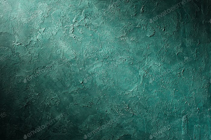 Green textured surface abstract background