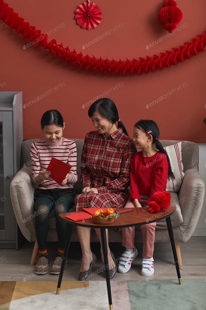 Chinese Family Preparing For New Year