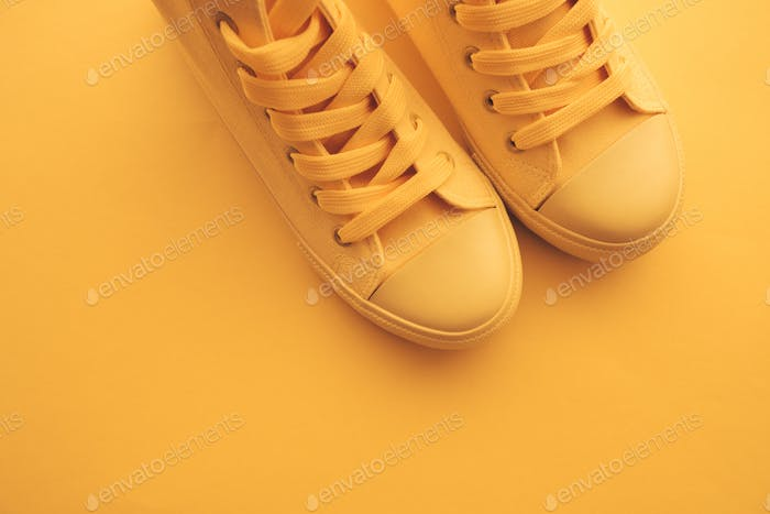 Sneaker shoes for youth lifestyle concept