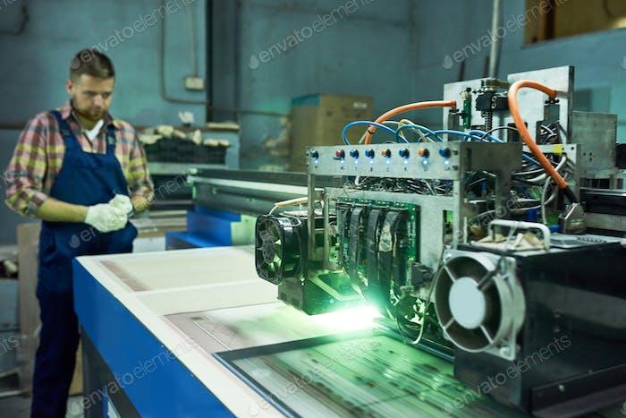 Modern CNC Machine at Factory