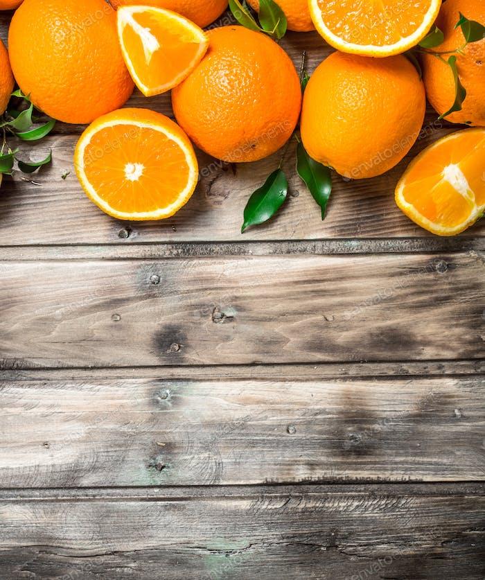 Fresh juicy oranges.