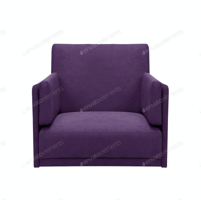 arm chair isolated on white background