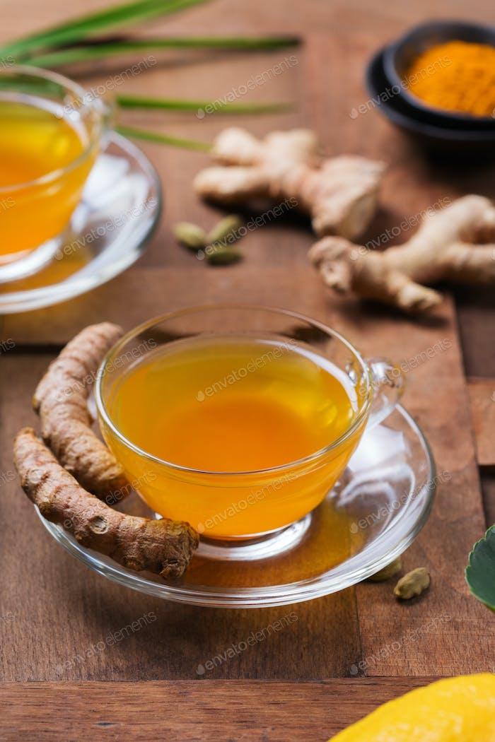 Turmeric ginger drink, immune booster, anti inflammatory beverage