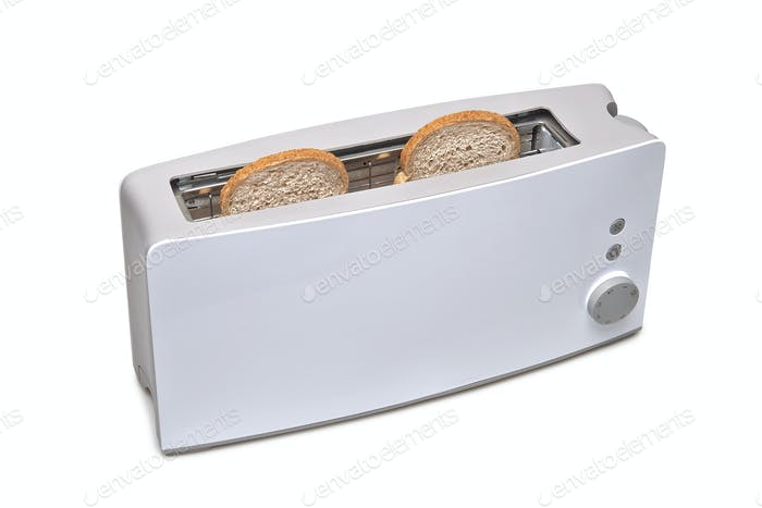 Classic toaster isolated with clipping path