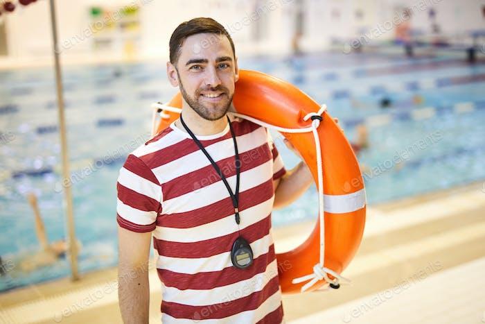 Instructor with lifebuoy