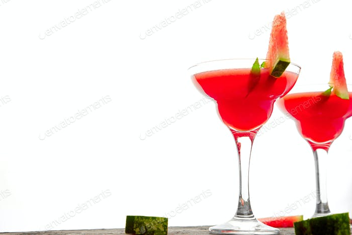 Watermelon margarita cocktail
