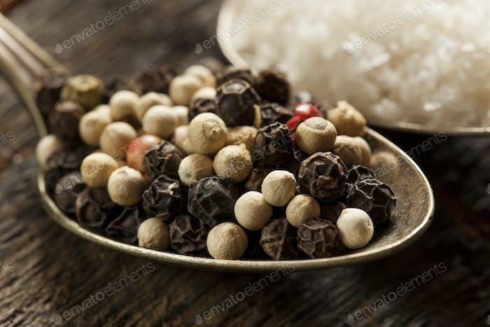 Raw Organic Sea Salt and Pepper
