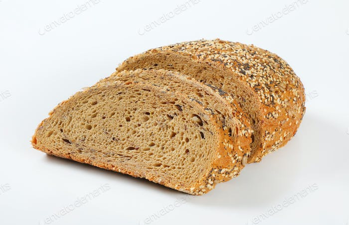 bread with poppy, sunflower and sesame seeds