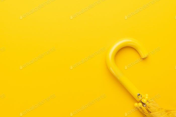 Folded Yellow Umbrella