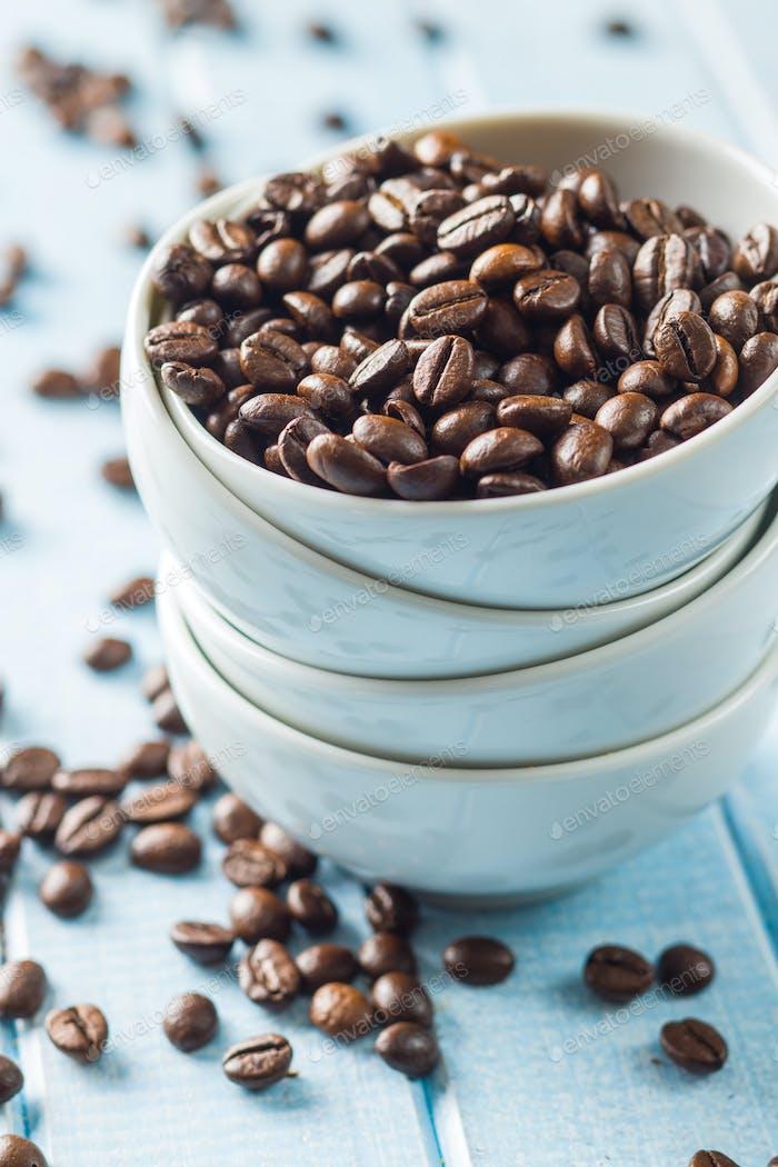 Geröstete Kaffeebohnen.